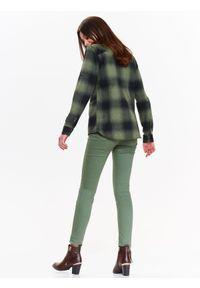 Brązowa bluzka TROLL casualowa, w kolorowe wzory, z długim rękawem, długa #7