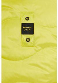 Blauer - Kurtka puchowa. Okazja: na co dzień. Kolor: żółty. Materiał: puch. Wzór: gładki. Styl: casual