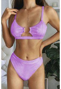 Fioletowy strój kąpielowy dwuczęściowy IVET