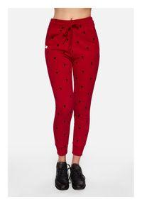 Czerwone spodnie dresowe PLNY LALA