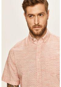 Pomarańczowa koszula Tom Tailor Denim button down, na co dzień, casualowa