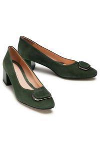 Zielone półbuty Baldaccini z cholewką, z aplikacjami, eleganckie