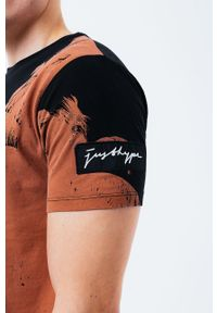 Hype - T-shirt bawełniany BRONZE PALM. Kolor: brązowy. Materiał: bawełna