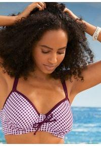 Bikini na fiszbinach (2 części) bonprix ciemnoczerwono-biały w kratę. Kolor: czerwony