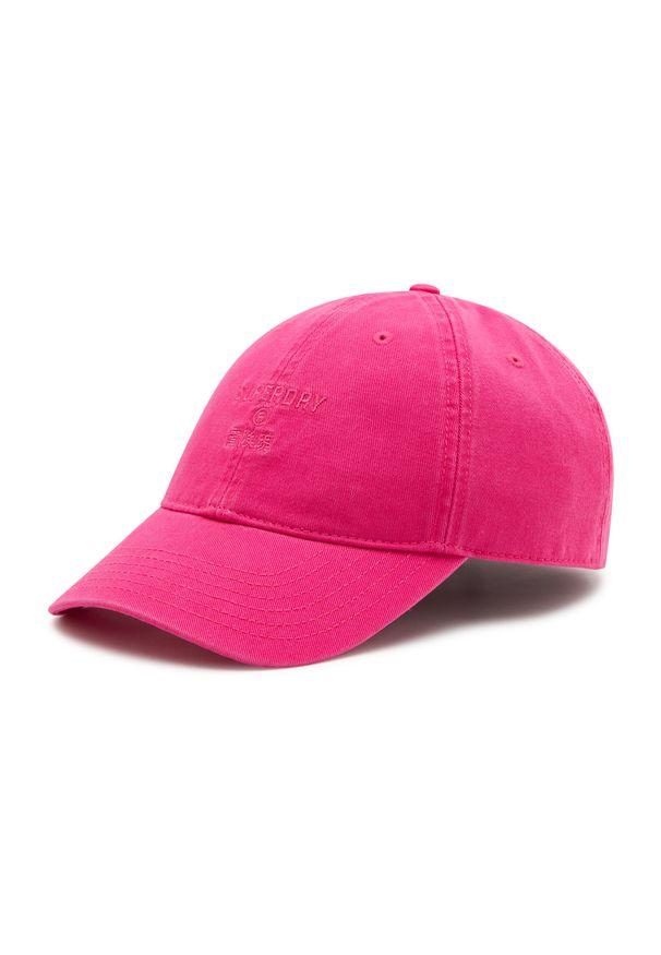 Superdry - Czapka z daszkiem SUPERDRY - Baseball Cap W9010105A Dusky Rose. Kolor: różowy. Materiał: materiał, bawełna