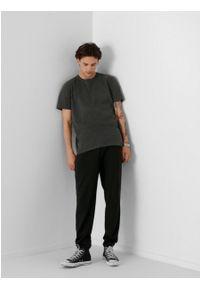 outhorn - T-shirt gładki męski. Materiał: bawełna, jersey, materiał. Wzór: gładki