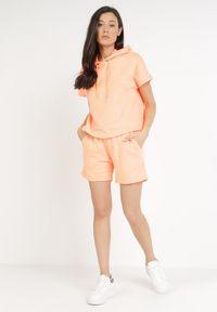 Born2be - Pomarańczowy 2-Częściowy Komplet Dresowy Crepheila. Kolor: pomarańczowy. Materiał: dresówka