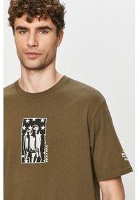 Oliwkowy t-shirt Volcom z nadrukiem
