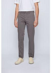 BOSS - Boss - Spodnie. Kolor: szary. Materiał: tkanina