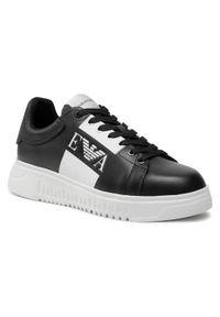 Emporio Armani Sneakersy X4X264 XM712 K001 Czarny. Kolor: czarny