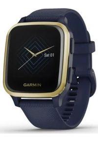 GARMIN - Zegarek sportowy Garmin Venu Sq Music Granatowy (010-02426-12). Kolor: niebieski. Styl: sportowy