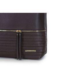Brązowa torebka worek Wittchen na ramię, biznesowa
