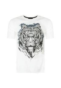 T-shirt Roberto Cavalli z aplikacjami, na co dzień