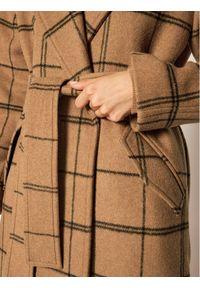 Brązowy płaszcz przejściowy TwinSet