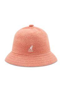 Kangol - Kapelusz KANGOL - Bucket Bermuda Casual 0397BC Peach Pink PP694. Kolor: pomarańczowy. Materiał: nylon, akryl, materiał. Styl: casual