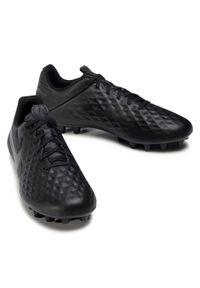 Czarne buty do piłki nożnej Nike z cholewką