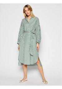 Zielona sukienka Weekend Max Mara koszulowa