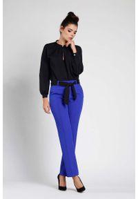 Niebieskie spodnie z wysokim stanem Nommo eleganckie