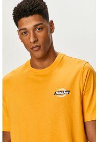 Żółty t-shirt Dickies z nadrukiem, na co dzień, casualowy #5