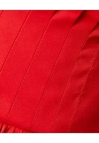Alexander McQueen - ALEXANDER MCQUEEN - Czerwona sukienka z jedwabiu. Okazja: na wesele, na ślub cywilny, na imprezę. Kolor: czerwony. Materiał: jedwab. Styl: elegancki. Długość: midi #3