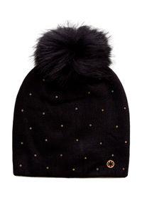 Czarna czapka Granadilla z aplikacjami