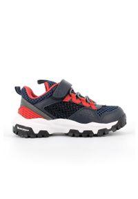 Niebieskie buty sportowe Primigi z cholewką, z okrągłym noskiem