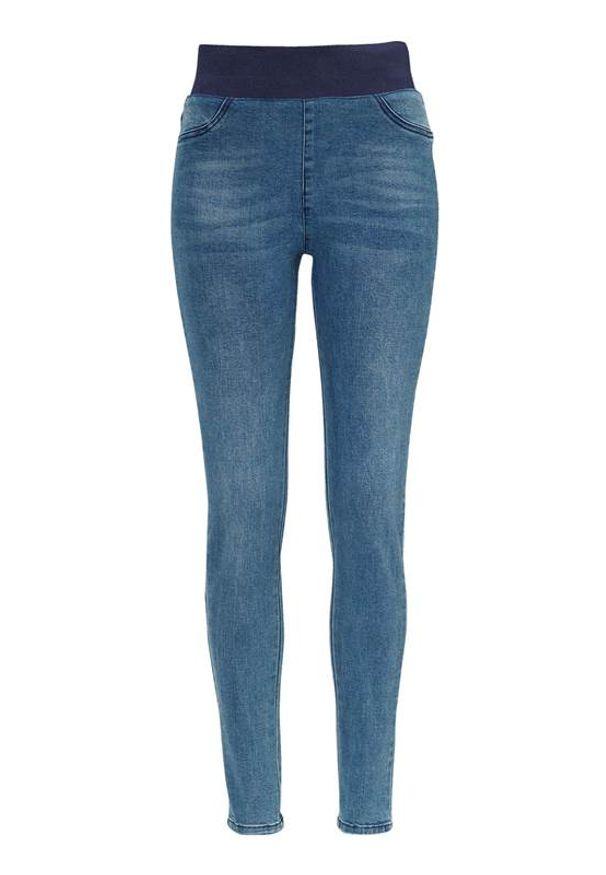 Freequent Dżinsowe legginsy Shantal niebieski female niebieski L (42). Stan: podwyższony. Kolor: niebieski