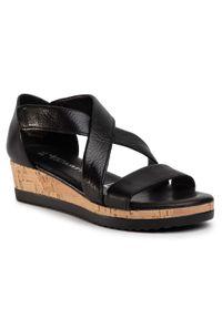 Czarne sandały Tamaris casualowe, na co dzień