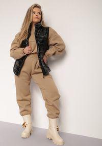 Renee - Czarna Kamizelka Nylonowa Thereall. Typ kołnierza: kołnierzyk stójkowy, kaptur. Kolekcja: plus size. Kolor: czarny. Materiał: nylon. Długość rękawa: bez rękawów. Styl: klasyczny