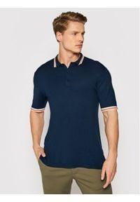 Only & Sons - ONLY & SONS Polo Adam 22019502 Granatowy Regular Fit. Typ kołnierza: polo. Kolor: niebieski
