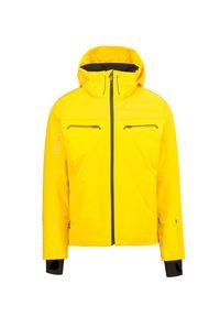 Żółta kurtka narciarska Descente Dermizax, na zimę, krótka