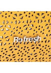 Refresh - Torebka REFRESH - 83370 Yellow. Kolor: żółty. Materiał: skórzane. Styl: wizytowy #6