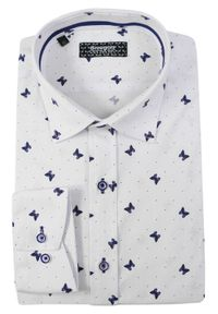 Elegancka koszula Grzegorz Moda Męska długa, z długim rękawem, do pracy
