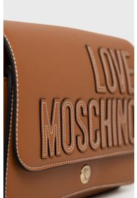 Love Moschino - Torebka. Kolor: brązowy