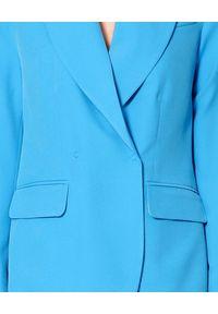 AGGI - Niebieska marynarka Ramona. Kolor: niebieski. Materiał: materiał