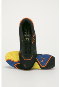 Czarne buty sportowe Puma z okrągłym noskiem, na sznurówki
