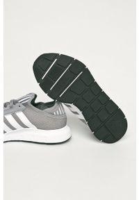 Szare sneakersy adidas Originals z cholewką, do biegania, na sznurówki