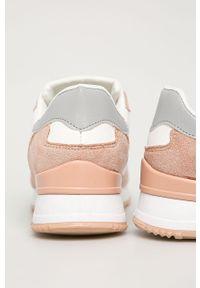 Białe buty sportowe Answear Lab na sznurówki, z okrągłym noskiem