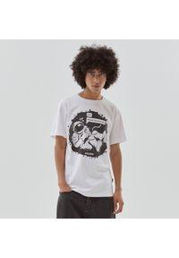 Cropp - Koszulka ze sloganem - Biały. Kolor: biały