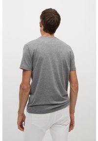 Szary t-shirt Mango Man na co dzień, casualowy