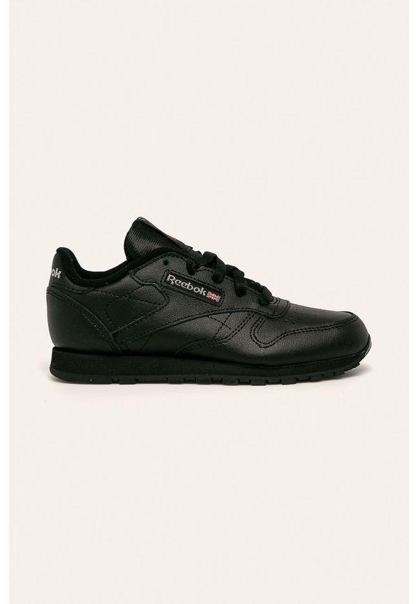 Czarne buty sportowe Reebok Classic z cholewką, Reebok Classic, na sznurówki