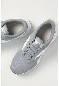 Szare buty sportowe Reebok z cholewką, na obcasie