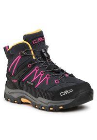 Szare buty zimowe CMP z cholewką