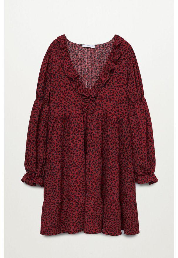 Czerwona sukienka mango prosta, casualowa, mini
