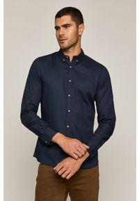 Niebieska koszula medicine długa, elegancka