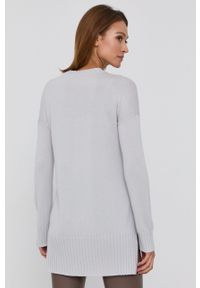 Max Mara Leisure - Sweter. Kolor: szary. Długość rękawa: długi rękaw. Długość: długie
