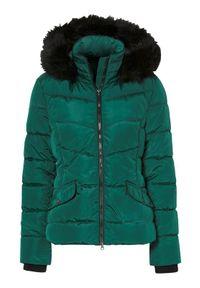 Cellbes Krótka, ocieplana kurtka ciemnozielony female zielony 62/64. Kolor: zielony. Materiał: futro. Długość: krótkie #1