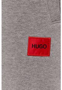 Szare spodnie dresowe Hugo gładkie