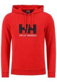 Helly Hansen Bluza Logo 33977 Czerwony Regular Fit. Kolor: czerwony