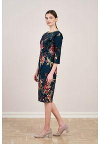 Marie Zélie - Sukienka Milena Dicentra. Materiał: bawełna, wiskoza, materiał, elastan, syntetyk, włókno, acetat, poliester. Typ sukienki: proste